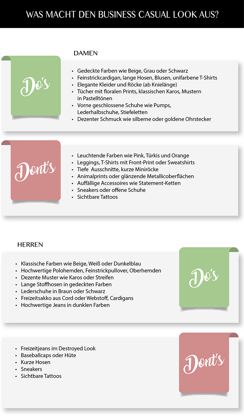 Dresscode Business Casual Infografik